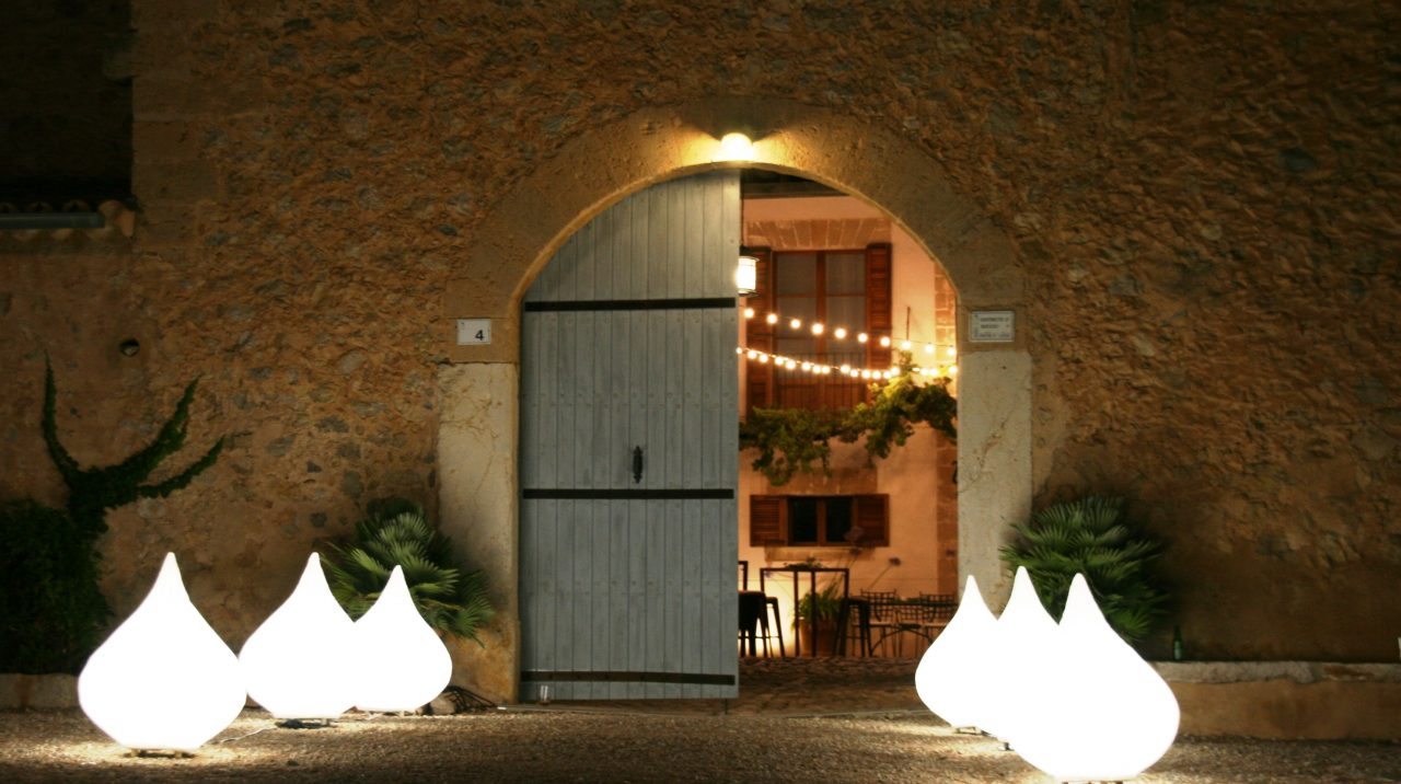 entrance illuminated
